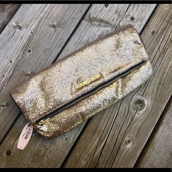 Victoria's Secret Handbags - Gold Victoria's Secret clutch